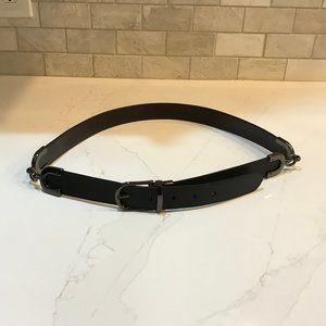 Worth Black Leather Belt NWOT  Size Large